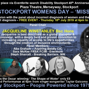 Speaker and Panel Moderator at Disability Stockport Women's Day Event - Miss Diagnosis