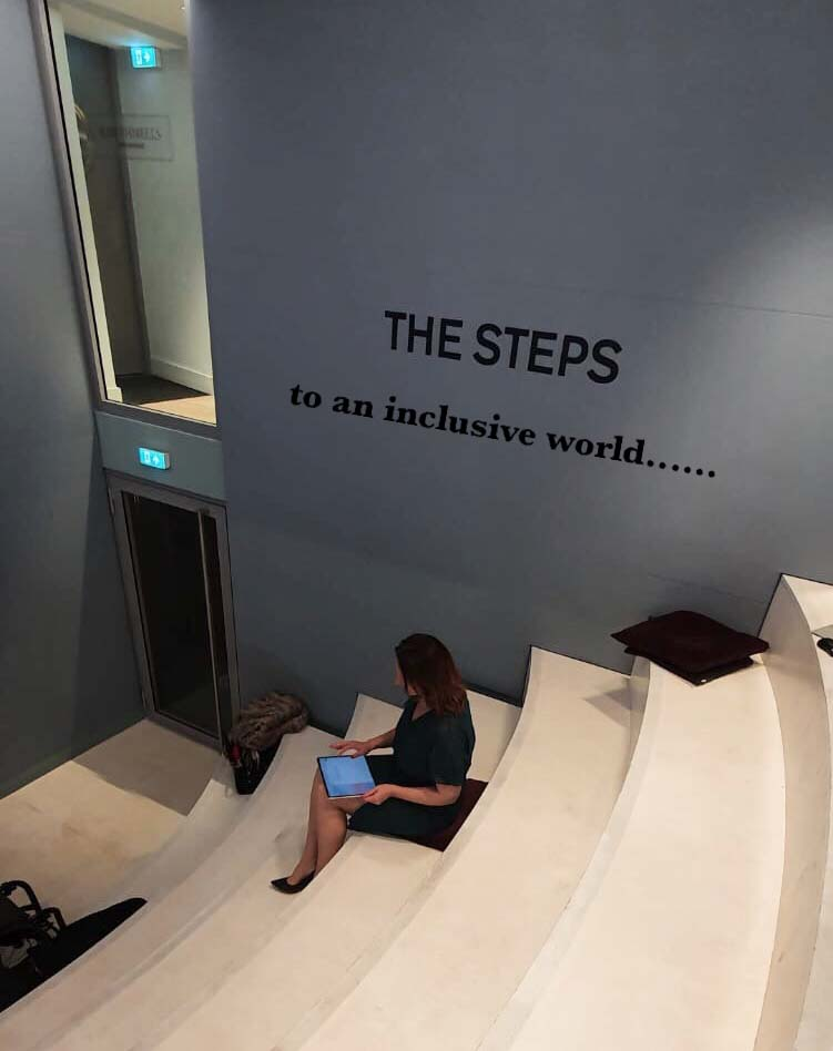 Image of steps leading to an inclusive world