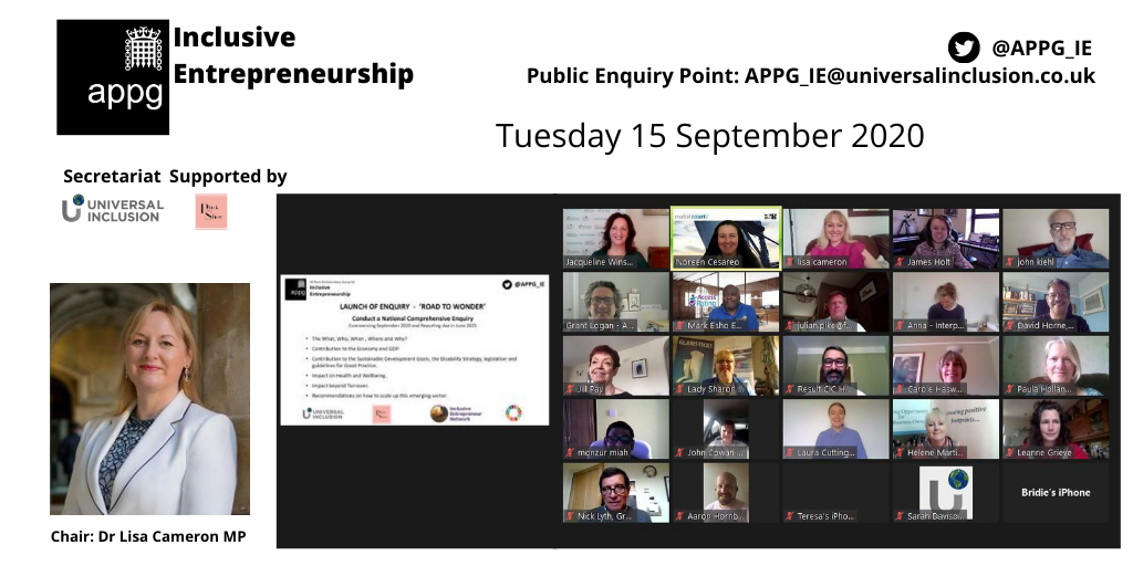 The first open meeting of the APPG for Inclusive Entrepreneurship